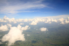 Air sky view Royalty Free Stock Photography