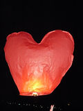 Air small lamp sort of red heart Royalty Free Stock Photos
