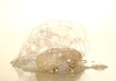 Air soap bubbles and piece Royalty Free Stock Photos