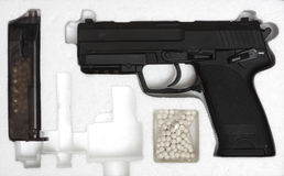 Air soft gun box Royalty Free Stock Photos