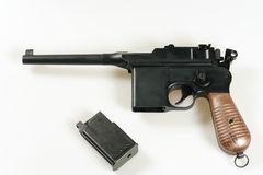 Air soft gun, Mauser. C 96 Broomhandle, M712 Stock Photography