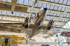 Air and Space Museum Washington DC. Aircraft hang from the ceiling inside national air and space Smithsonian museum Washington dc Stock Image