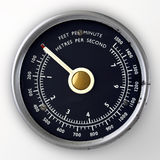 Air speed gauge stock images