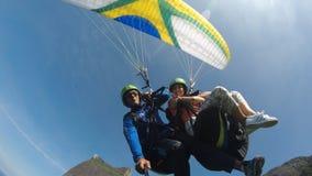 Air Sports, Paragliding, Parachuting, Parachute stock photography