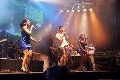 air stadsfestivalen öppnar sju zurich Royaltyfria Foton