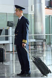 Air steward at  airport Royalty Free Stock Image
