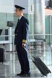 Air steward at  airport Royalty Free Stock Image
