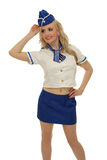 Air steward costume Royalty Free Stock Photography