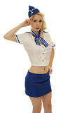 Air steward woman Royalty Free Stock Photography