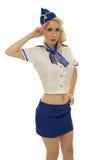 Air steward woman royalty free stock photography