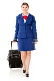 Air stewardess walking Stock Photography