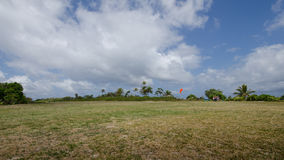 Air strip on Mystery Island, Vanuatu Royalty Free Stock Photos