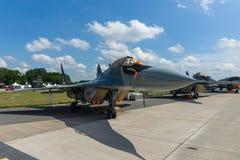 Air superiority, multirole fighter Mikojan-Gurewitsch MiG-29. Stock Photos