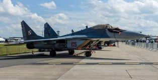Air superiority, multirole fighter Mikojan-Gurewitsch MiG-29. Royalty Free Stock Image