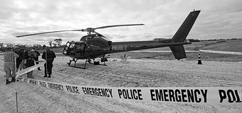 Air Support Police Helicopter Royalty Free Stock Image