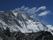 Air Swirls over Lhotse Stock Photography