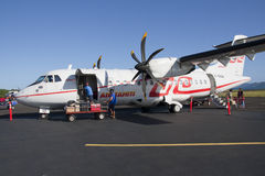 Air Tahiti ATR42 loading Stock Photo