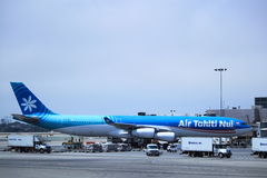 Air Tahiti Nui. Is the international flag-carrier of Tahiti and its islands and links four continents to the South Pacific royalty free stock image