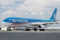 Air Tahiti Nui jorra Fotos de Stock