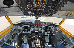Air tanker cockpit Royalty Free Stock Images