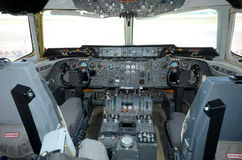 Air tanker cockpit Royalty Free Stock Image