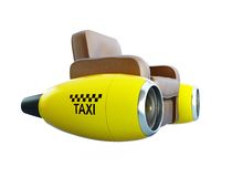Air taxi. On a white background Stock Photo