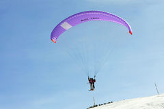 Air taxi. Close up shot of paraglide air taxi Stock Photography