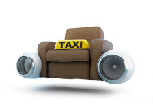 Air taxi, seat taxi with an engine from the airplane Stock Images