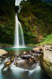 Air Terjun Ketemu Jodoh Malino. A local waterfall, called Air Terjun Ketemu Jodoh, located in Malino, Sulawesi Selatan, Indonesia. Famous for local tourist Stock Images