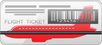 Air ticket. The air ticket, vector illustration Royalty Free Stock Images
