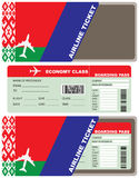 Air ticket and envelope Belarusian Royalty Free Stock Photography
