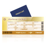 Air ticket passport Stock Photos
