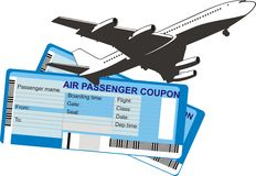 Air tickets Royalty Free Stock Image