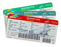 Air tickets Royalty Free Stock Photography