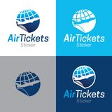 Air Tickets Sticker Icon and Logo stock photography