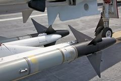 Air to air missiles Stock Photo