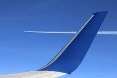 Air to air view plane Stock Photo