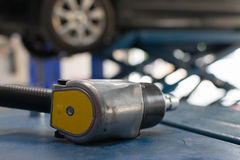 Air tools at car garage Royalty Free Stock Photography
