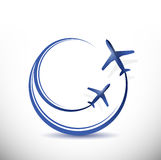 Air traffic airplanes illustration design Stock Photography
