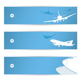 Air traffic banners Royalty Free Stock Photo