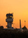 Air Traffic Control. Small Air Traffic Control Tower as a Synbol for Holiday Feeling Stock Photos