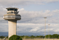 Air Traffic Control Tower. Of the International Airport of Rio de Janeiro, Brazil, Galeao, Antonio Carlos Jobim Royalty Free Stock Photos