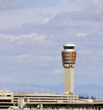 Air Traffic Control Tower. Sky Harbor airport traffic control tower dispatcher center, Phoenix, AZ Royalty Free Stock Image