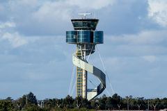 Air Traffic Control Tower. Modern Air Traffic Control Tower in Sydney Royalty Free Stock Image