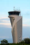 Air Traffic Control Tower. On blue sky Stock Photos