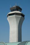 Air traffic control tower agai. Nst blue sky Royalty Free Stock Photo