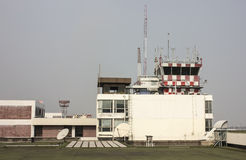 Air Traffic Control Tower. In airport Royalty Free Stock Images