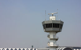 Air Traffic Control Tower. In airport Stock Photography