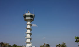 Air Traffic Control Tower. In airport Royalty Free Stock Photo