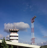 Air Traffic Control Tower. In airport Stock Images